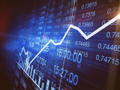 Upward trend indicated on commodity trading screen
