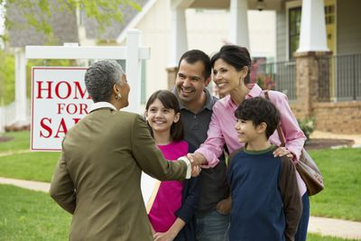 a family with a realtor