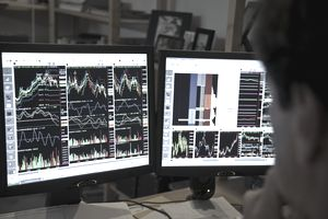 a daytrader at his computer