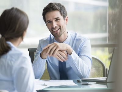 Business man meeting with a credit repair specialist