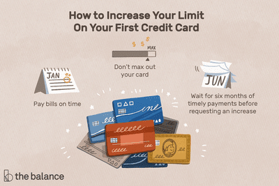How to Increase Your Limit on Your First Credit Card: Pay bills on time Don't max out your card Wait for six months of timely payments before requesting an increase