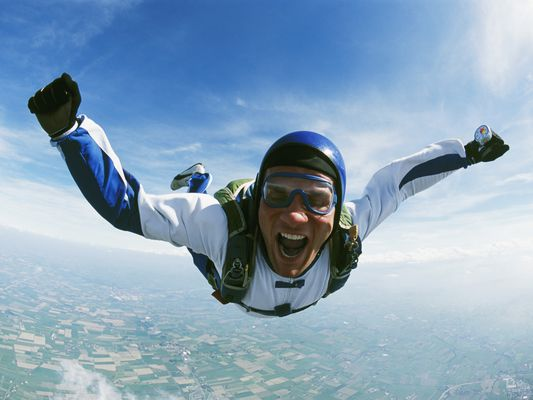 Skydiver in Free Fall