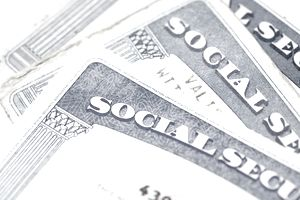 Several Social Security cards
