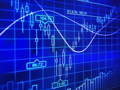 Close-Up abstract of a futures trading candlestick chart.