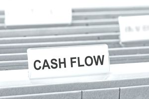 cash flow label on hanging file
