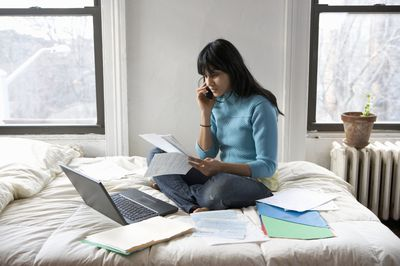 One of the advantages of online banking is you can bank at home.
