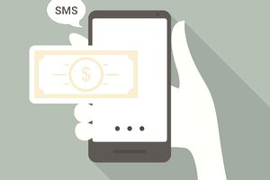 An illustration of banking on social media messaging apps