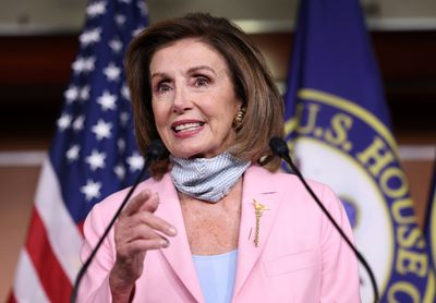 Pelosi speaks to media in weekly press conference