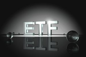The letters ETF lit up