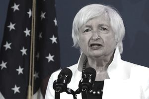 WILMINGTON, DELAWARE - DECEMBER 01: U.S. Secretary of the Treasury nominee Janet Yellen speaks during an event to name President-elect Joe Biden's economic team at the Queen Theater on December 1, 2020 in Wilmington, Delaware. Biden is nominating and appointing key positions to the Treasury Department, Office of Management and Budget, and the Council of Economic Advisers.