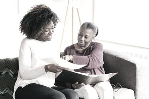 Home consultation for senior women