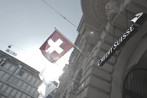Exterior of the Credit Suisse headquarters on Paradeplatz in Zurich