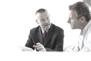 Financial Advisor and Client