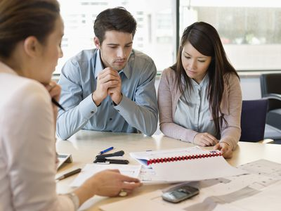 couple reviewing financials