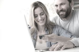 Spouses use a credit card online