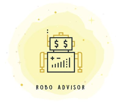 Robo Advisor Icon With Watercolor Patch