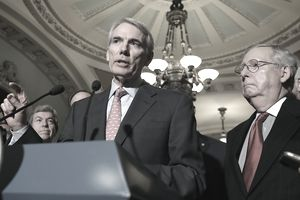 Senator Rob Portman and Mitch McConnell