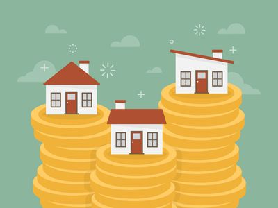 Houses on stacks of coins