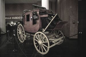 Carriage in Wells Fargo History Room