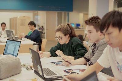 Students Studying At the Brody Learning Commons