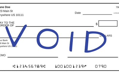 How To Void Your Own Check For Automatic Transfers