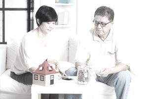 Homeowners deliberate over money together