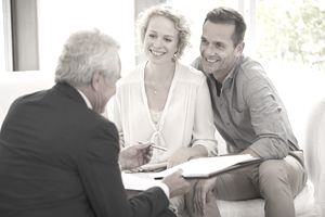 Couple meeting with retirement planner