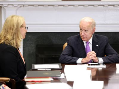 President Biden meeting with officials at the White House