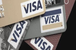 Assortment of Visa cards with different perks