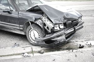 Car that has been in a major accident