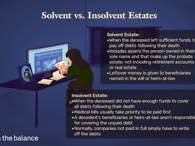 solvent vs. insolvent estates. person sitting at desk looking at past due bills