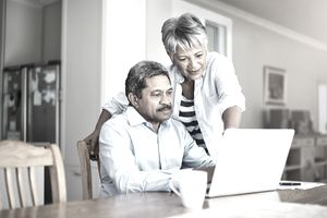 shot of a senior couple using a laptop