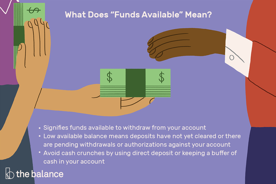 "What does ""funds available"" mean?"