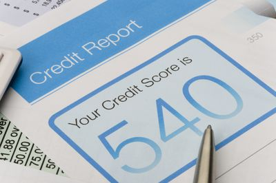 Copy of a credit report with a sub-prime score of 540 that could benefit from UltraFICO..