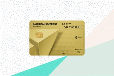 Delta SkyMiles Gold Business Card on background