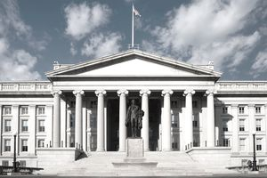 Exterior of the United States Treasury Department