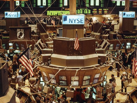 The New York Stock Exchange.