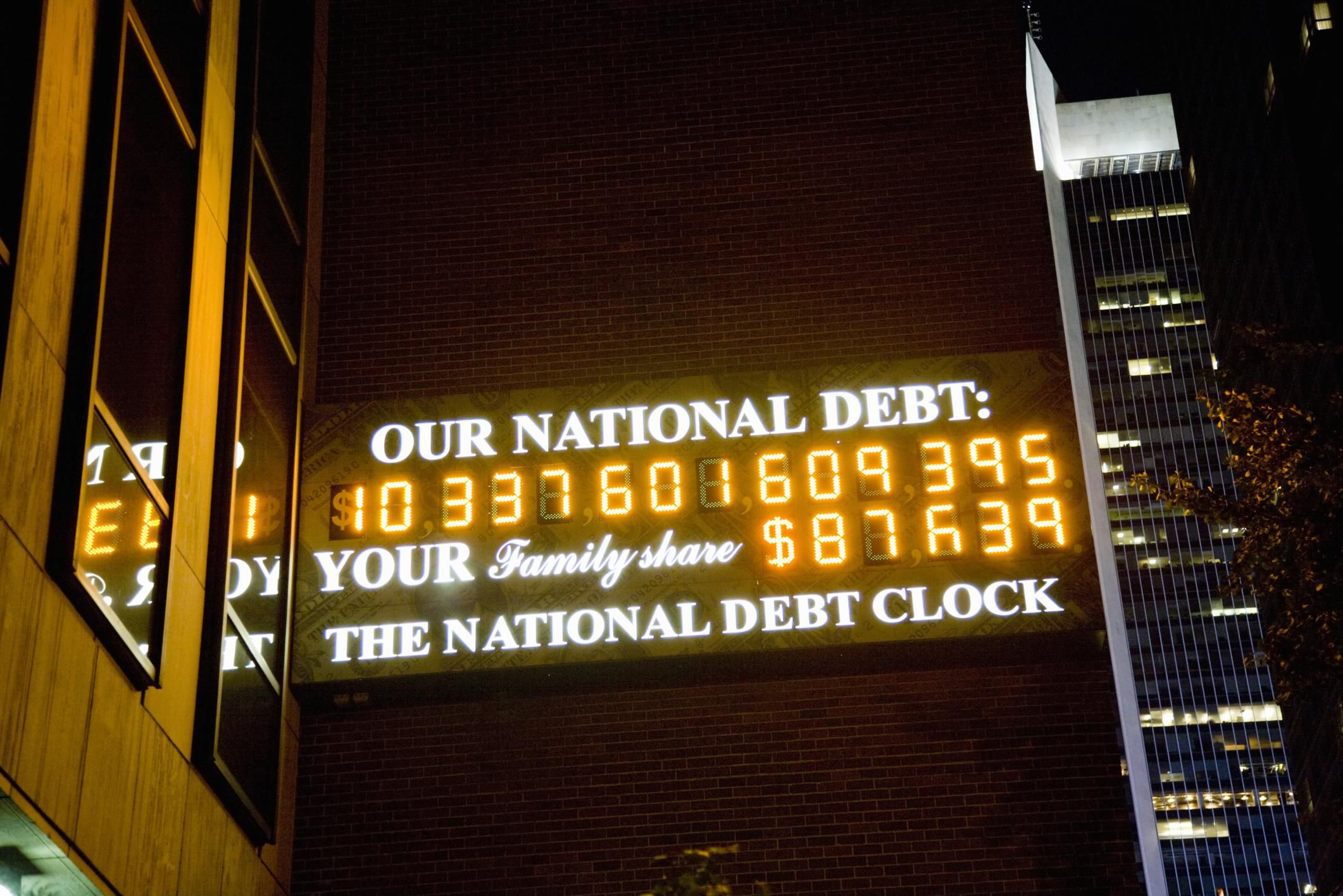 us national debt clock: importance and history
