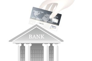Image of a bank and a credit card.