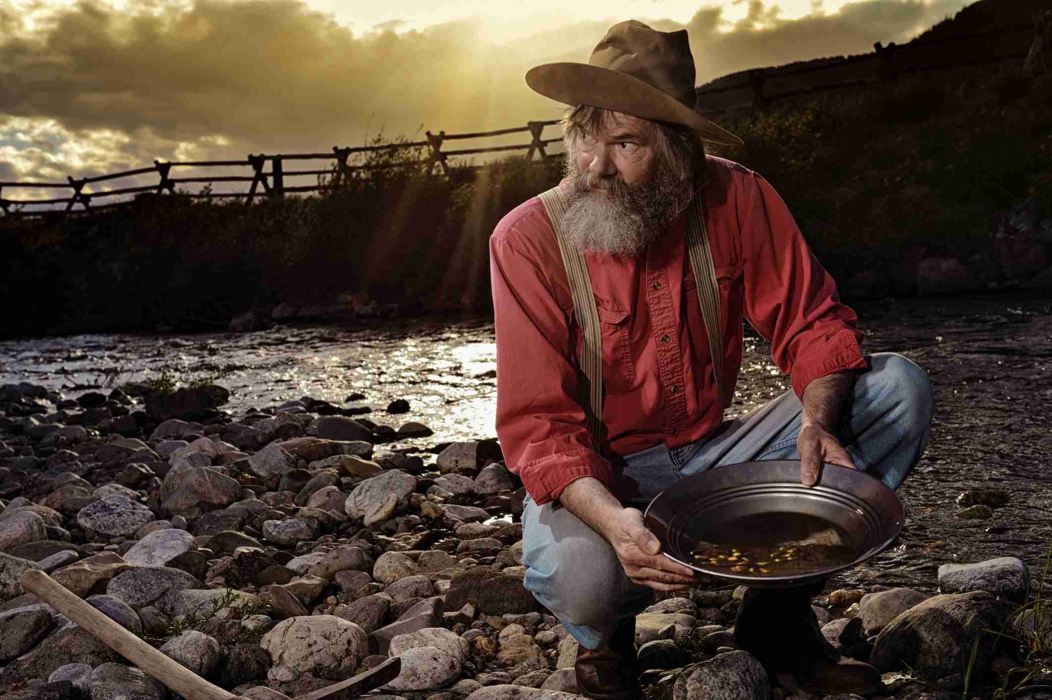 Gold miner with coins