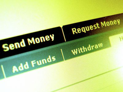 Screenshot of online banking options in an account