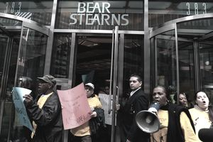 Protestors at Bear Stearns