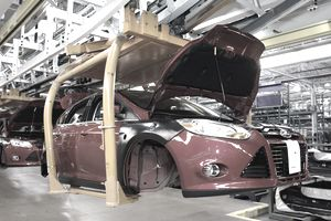 car in factory