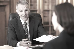 a businessman meeting with a client