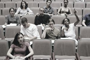 Young Students in a Classroom Auditorium
