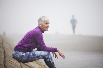 Health woman using Medicare Part B coverage.