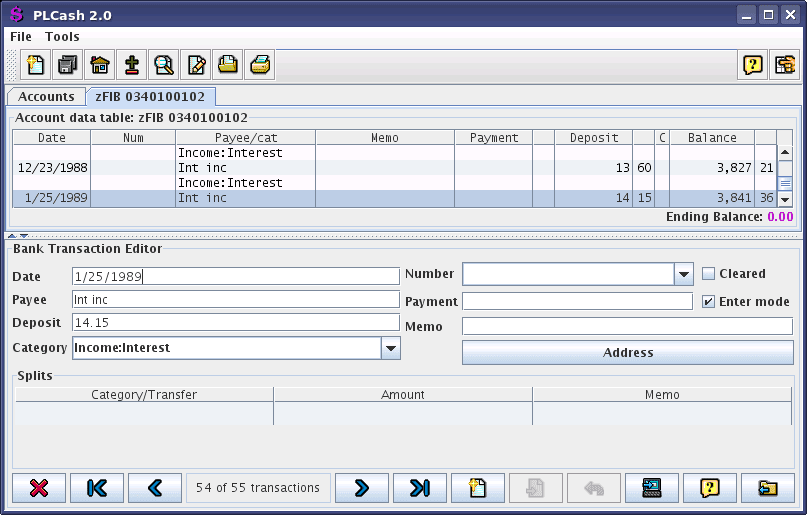simple check register software