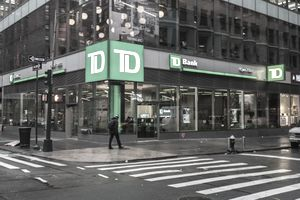 Exterior of TD Waterhouse bank in New York city.