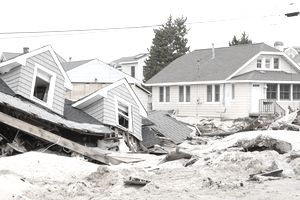 homes damaged in Hurrican Sandy