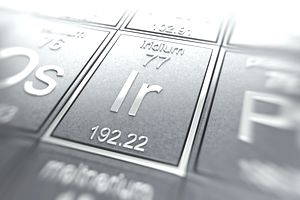 Iridium on a periodic table